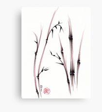 Tenderness  -  Sumie dry brush pen bamboo painting Canvas Print