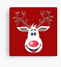 Happy Rudolph - The Red Nosed Reindeer Canvas Print