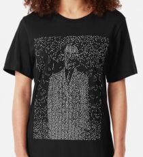 Son of Triangles (White on Dark Shirt) Slim Fit T-Shirt