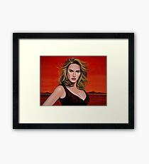 Kate Winslet Painting Framed Print