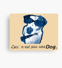 This is not a Dog Canvas Print