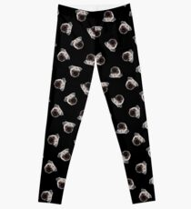 black pug pattern Leggings