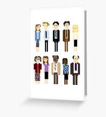 Tarjeta de felicitación Office Pixel Cast - 10 - Patrón vertical