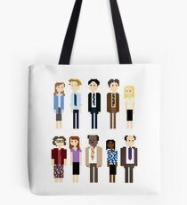 Office Pixel Cast - 10 - Vertical Pattern Tote Bag