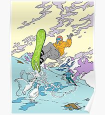 Snowboarden Poster