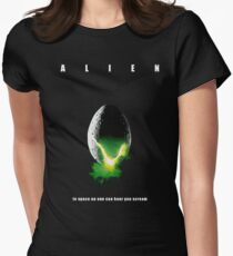 Alien - poster Womens Fitted T-Shirt