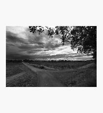 Autumn storms. Photographic Print
