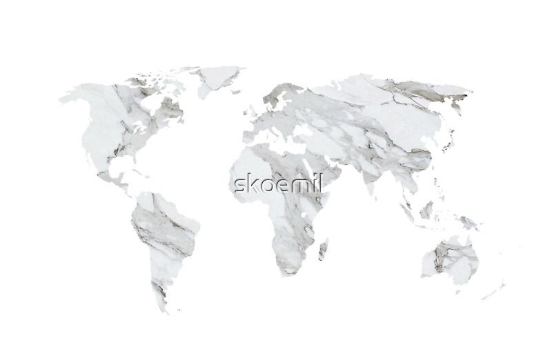 Marble World Map Laptop Skins By Skoemil Redbubble