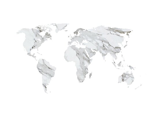 marble world map by skoemil