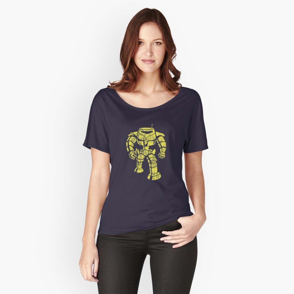 Manbot - Distressed Variant Women's Relaxed Fit T-Shirt Front