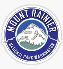 MOUNT RAINIER NATIONAL PARK WASHINGTON 1899 HIKING CAMPING CLIMBING BLUE Sticker