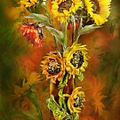 Sunflower Art Collection Calendar by Carol  Cavalaris