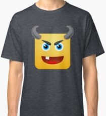 Devil Zombie Emoji Emoticon Halloween Smiley Face  Classic T-Shirt