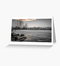 Iced Sunset Greeting Card