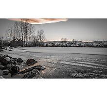 Iced Sunset Photographic Print
