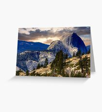 Half Dome from Olmsted Pt. Greeting Card