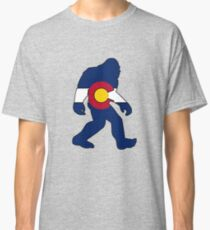 Colorado flag big foot yeti Classic T-Shirt