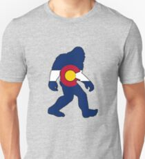 Colorado flag big foot yeti Unisex T-Shirt