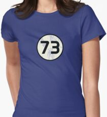 73 Sheldon Distressed Women's Fitted T-Shirt