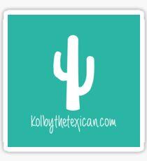 KolbytheTexican.com Sticker