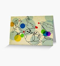 birds ink drawing Greeting Card