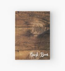 Faux Brown Barn Wood Wedding Guest Book Hardcover Journal