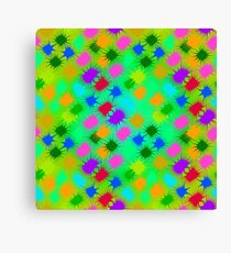 Abstract color blot pattern Canvas Print