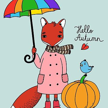 Hello autumn fox by Kerby664