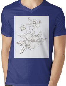 Bunch of spring anemones Mens V-Neck T-Shirt