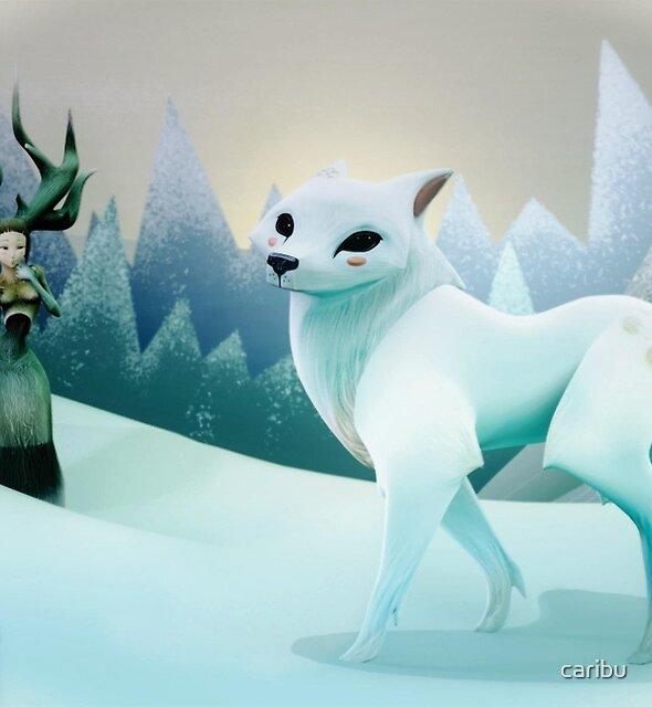 Snow Wolf by caribu