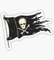 Pirate Flag for your Pirating Needs. Sticker