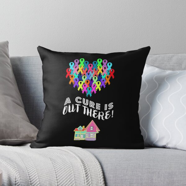 A Cure Is Out There Throw Pillow