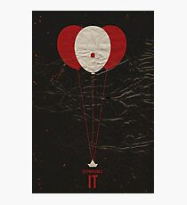 "Vintage Movie Poster Inspired by Stephen King's ""IT"" Photographic Print"