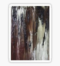 Brown Black Abstract Painting Sticker