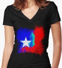 San Juan Puerto Rico Women's Fitted V-Neck T-Shirt