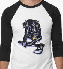 Axe Wielding Pug RBPetMonsters Men's Baseball ¾ T-Shirt