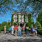 Visitors In Front Of Kykuit Rockefeller Estate   Sleepy Hollow, New York by © Sophie W. Smith
