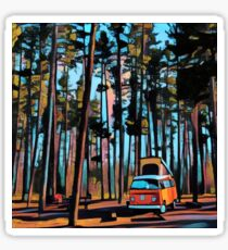 Bay Window Volkswagen Westfalia in Yellowstone  Sticker