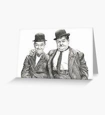 Mr Laurel & Mr Hardy Greeting Card