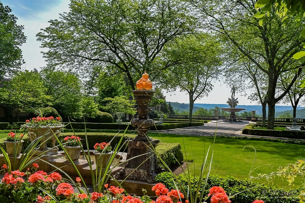Garden With A View On Oceanus Fountain - Kykuit Rockefeller Estate | Sleepy Hollow, New York by © Sophie W. Smith