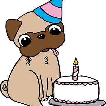Pug de cumpleaños de gunsellm19