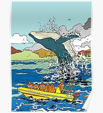 Jumping Whale Poster