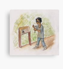 Harry Potter at the Zoo Canvas Print