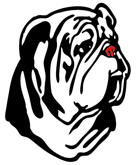 Bulldog Zebra Red Nose by roccoyou