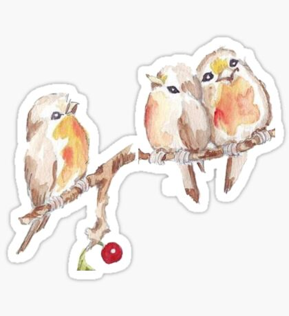 Three Little Birds 2 Sticker