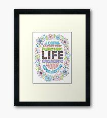 LIFE (John 10:10) Framed Print