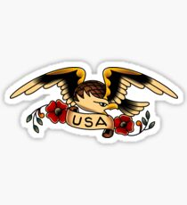 Folk Americana Eagle Sticker