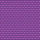 Alien Pattern {Lilac on Purple} by IggyMarauder