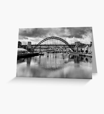 River Tyne Bridges Greeting Card