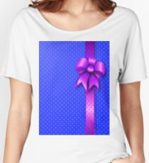 Purple Present Bow Women's Relaxed Fit T-Shirt